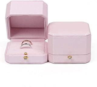 Afzos Ring Box for Wedding Ceremony, Ring Bearer Box Engagement Ring Box for Proposal