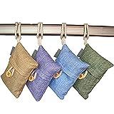 Allucky Sacchetti di carbone di bambù purificanti per l'aria, deodorante, per scarpe, casa, cucina e auto, set da 4 (100 g/sacchetto 4 pezzi)