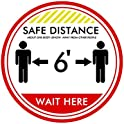 10-Pairs Bamoer Foot Stickers Please Practice Social distancing Floor Sign