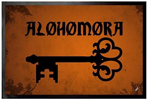 1art1 Hechizos Mágicos - Alohomora, Encantamiento De Apertura Felpudo Alfombra (60 x 40cm)