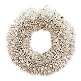 COURONNE Türkranz mit Aufhängevorrichtung 30cm in weiß, gefertigt aus Bakuli-Früchten - Deko aus...