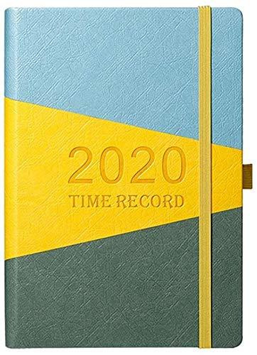 2020 Planner diario semanal mensual Bloc de notas A5 Revistas alineado del cuaderno Agenda de libro for el Día de San Valentín Oficina de Estudiantes de cumpleaños del regalo de dljyy