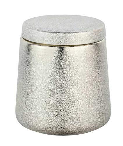 WENKO Universaldose Glimma Champagner-Gold Keramik - Kosmetikdose, Wattedose, Keramik, 10 x 11.5 x 10 cm, Gold
