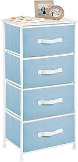 mDesign commode à 4 tiroirs – meuble à tiroirs pratique en panneaux de bois MDF pour la chambre à coucher, le salon ou le ...