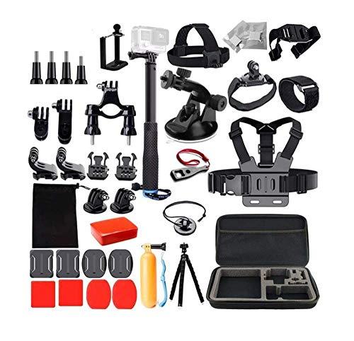 Linghuang Voor GoPro Hero 8 7 Zwart Accessoires Set met Draagtas Compatibel met AKASO V50,V50 PRO,EK7000, DJI OSMO ACTIE, GoPro Hero 7 6 5,Camera Bundel Kit met borstband, Zuignap, Bike Mount
