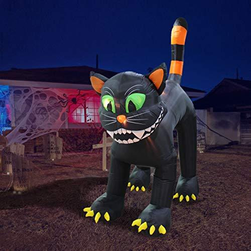 Chat noir gonflable de 11 pieds de hauteur Animé Halloween