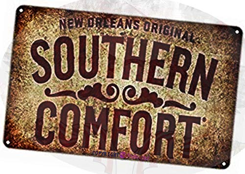 TSOSK Retro Metal tin Sign New Orleans Original Southern Comfort Safety Aluminum Sign,Cave,Bar,Club, Home Wall Art Metal Tin Sign 8x12 inches