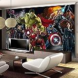 Personnalisé 3d Enfants Garçons Papier Peint Mural Les Avengers Spiderman Iron Man Hulk Capitaine Amérique Tv Canapé Salon Café Bar Fond