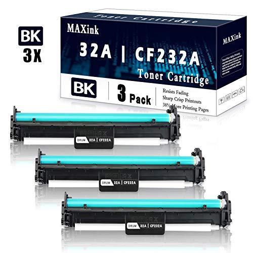 3 Pack Black 32A   CF232A Drum Unit Cartridge Replacement for HP Laserjet Pro M203dn M203dw M203d MFP M227sdn MFP M227fdw MFP M227fdn HP Laserjet Ultra MFP M230sdn M230fdw Printer