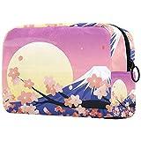 Kosmetiktasche für Damen, Kosmetiktaschen Reise Kulturbeutel Zubehör Organizer - japanische Mount Fuji Kirschblüten