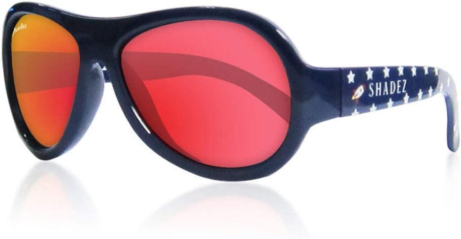 Shadez - Gafas de sol para niños, protección contra los rayos UVA y UVB, talla junior, azul con raza - 30 g