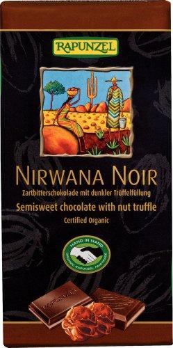 Rapunzel Nirwana Noir 55% mit dunkler Trüffelfüllung HIH, 2er Pack (2 x 100 g) - Bio