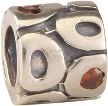 Sterling Silver Charm Siam Charm Bead Swarovski Crystal for All Charm Bracelet Necklace Women Mom Birthday Christmas Gift EC6