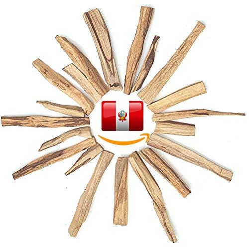 AKTION Premium Palo Santo Räucherstäbchen Räucherholz - Heiliges Holz Bursera Graveolens Zertifiziert Original aus Peru - Räucherwerk gespalten Weihrauch Holy Wood - 100% Natur - 20g Gespalten
