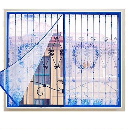 Zanzariera magnetica per finestra fai da te, in poliestere resistente, per tenda con adesivi magici anti-zanzare, zanzariera, zanzariera, 120 x 130 cm