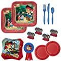 Disney Jake and The Neverland Pirates Birthday Party Supplies Bundle with Plates, Napkins, Cutlery & Party Favors