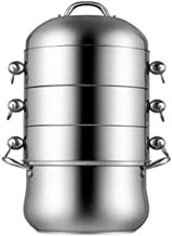 ZYSWP Steamer Stainless Steel Household 4-layer Thickened Steamer for Cooking without Odor
