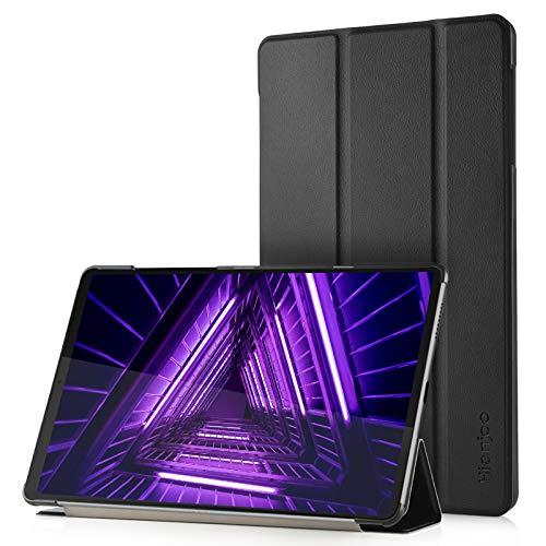 Hianjoo Funda Compatible con Lenovo Tab M10 FHD Plus 10,3', Slim Smart Protectora Folio Tablet Cover de Cuero con Función de Soporte Carcasa para TB-X606 X606F, Negro