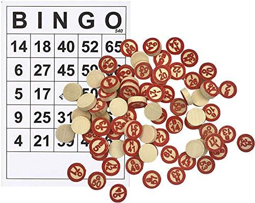 W808M Máquina de Bingo, Vintage Bingo de Madera Juego Juego Lotería Número 90 Numerado Bolas 48 Jugando Tarjetas Familia Classic Tradicional Juego