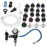 Detector de enfriamiento, kit de herramientas de tapa del probador del sistema de enfriamiento a presión 28Pcs / set Kit de herramientas del detector de tanque de agua Adaptador Detector