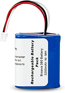 LiBatter ブラーバ バッテリー ルンババッテリ Braava 380J ブラーバ 380J バッテリー ニッケル水素 充電池 iRobot Braava 380 Braava 380T Mint Plus 5200 Plus 5200C などと互換 アイロボット 床拭きロボット ブラーバ380j B380065