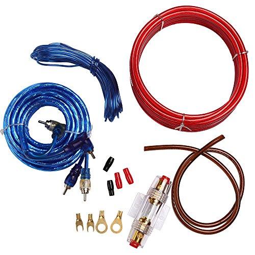 ZJ-Light Câble audio de voiture 10 GA 1500 W 60 A porte-fusible pour caisson de basses