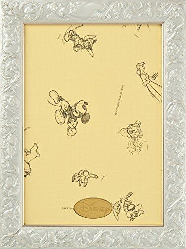 パズルフレーム ディズニー専用 アートフィギュアパネル 108ピース用 パールホワイト(18.2x25.7cm)