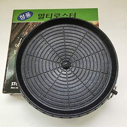 RM-WANGLUO-HZ Bequem Und Praktisch 32 cm Maifan Stone Charcoal Grillpfanne Runde Picknick Gartenparty Im Freien Antihaft-Aluminiumtablett