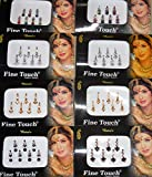 8 Pack - 56 Silver, Golden,Black,Multicolored Face Jewels Crystal