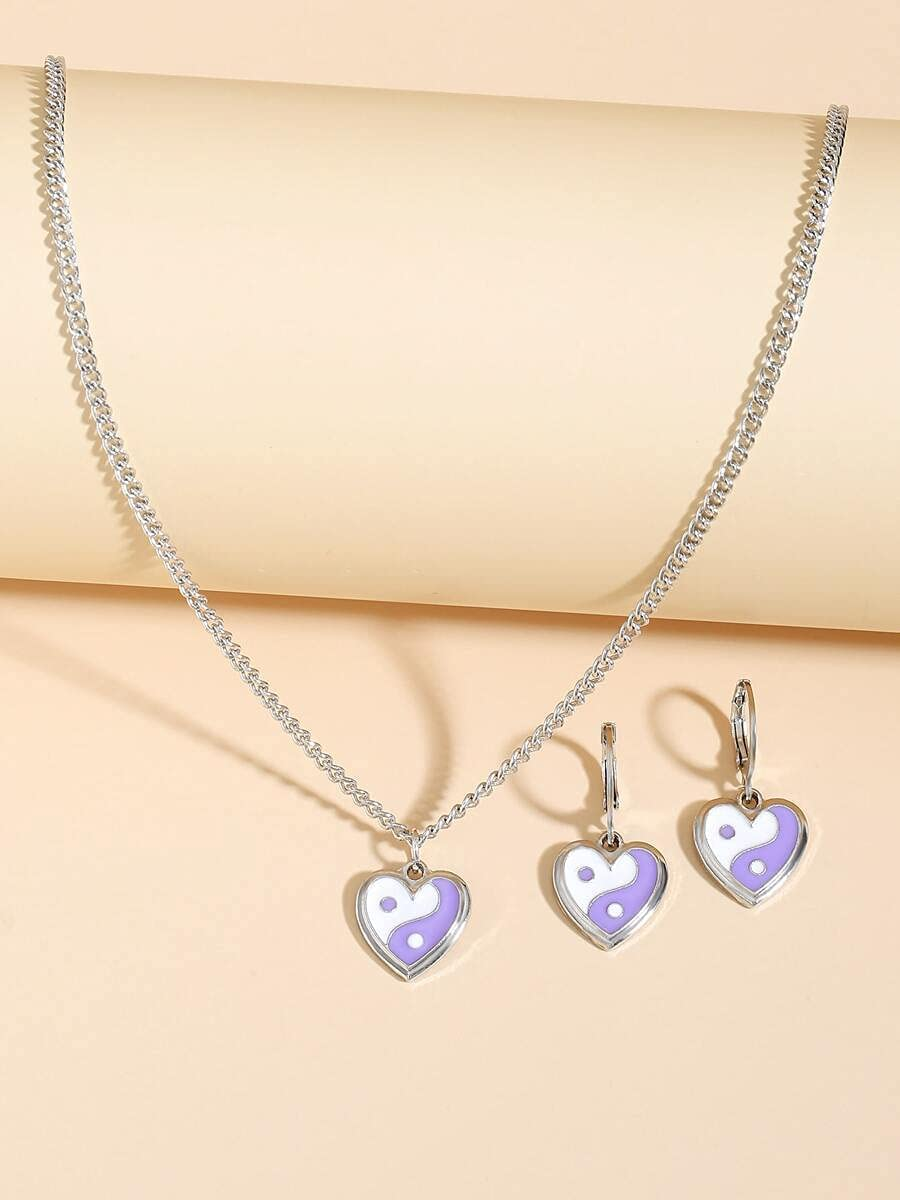 LND half Gifts Jewelry Sets 3pcs Color Yin At the price of surprise Detail Set Yang