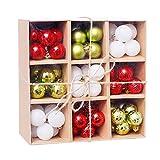 XSWL 3Cm De Navidad Adornos De Bola, 99Pcs Set Irrompibles Decoraciones para Árboles De Navidad Bolas para El Banquete De Boda De Los Árboles De Navidad Decoraciones De Vacaciones,006