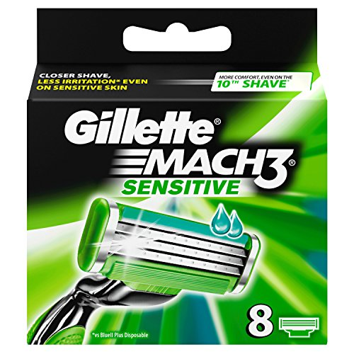 Auslaufmodell Gillette MACH3 Sensitive Power Klingen, 8 Stück