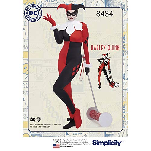 Simplicity 8434 Schnittmuster für Damen Harley Quinn Kostüm