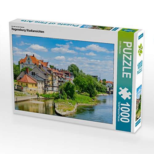 CALVENDO Puzzle Regensburg Stadtansichten 1000 Teile Lege-Größe 64 x 48 cm Foto-Puzzle Bild von Dirk Meutzner