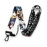 Sword Art Online Anime Lanyard Keychain ID Badge Holder Kirito & Asuna Group Key Art Lanyard (LY-Sword)
