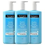 Neutrogena Hydro Boost Body Lotion Gel (3x400ml) - Erfrischende und ultraleichte Bodylotion mit Hyaluron -...