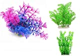 Takestop® - Plantas artificiales/postizas coloradas de 40 cm de altura - Elemento de decoración para acuario - Colores aleatorios