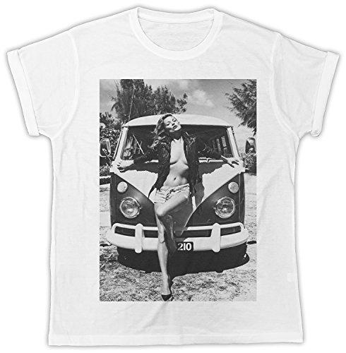 Kate Moss Bus Designer Unisex T-Shirt, Cooler Spruch, Slogan, lustiges Design, Geschenkidee