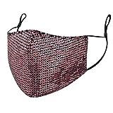 Covermason Adulti Masquerade Tessuto Bocca in Cotone - Paillettes Moda Bling - Lavabili Riutilizzabili Antipolvere Visiera Viso Adatto per Salute Aperto Sportivo
