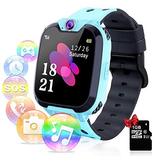 smartwatch sim Smartwatch per Bambini con Lettore Musicale - Gioco Puzzle Telefono SOS Smart Watch con Scheda SD Sveglia Fotografica Regalo di Compleanno Festival per Ragazzi e Ragazze Touch Screen