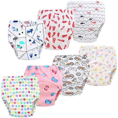 JackLoveBriefs Baby Kleinkind Töpfchen Unterwäsche Töpfchen Trainingshose (1 bis 6 Jahre, 7 Stück), Verschiedene Farbe und Motive, Herrsteller Gr. 80