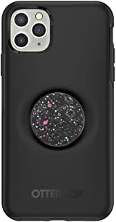 Otter + Pop for iPhone 11 Pro Max: OtterBox Symmetry Series Case Black & PopSockets Swappable PopTop Sparkle Black