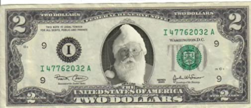 SANTA TRADITIONAL GREEN CHRISTMAS MILLION Lot of 2 Bills