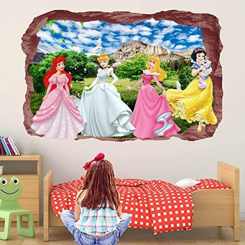Pegatinas de pared Hada princesa Aurora etiqueta de la pared Mural calcomanía impresión arte decoración del hogar póster papel tapiz- 70×100cm