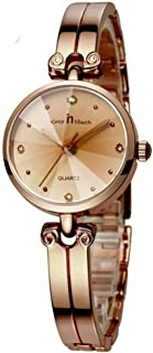 Fashionable Quartz Watch with Alloy Case Crystal Dial Waterproof Elegant Bracelet Dress Wristwatch for Women