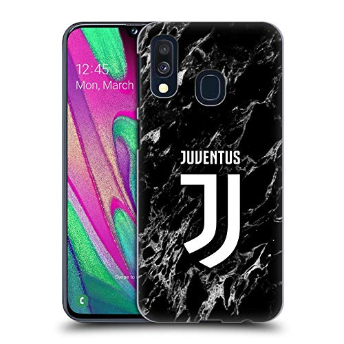 Head Case Designs Ufficiale Juventus Football Club Nero 2017/18 Marmoreo Cover Dura per Parte Posteriore Compatibile con Samsung Galaxy A40 (2019)