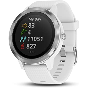 Garmin 010-01769-21 Vivoactive 3, GPS Smartwatch with Contactless Payments and Built-in Sports Apps, White/Silver