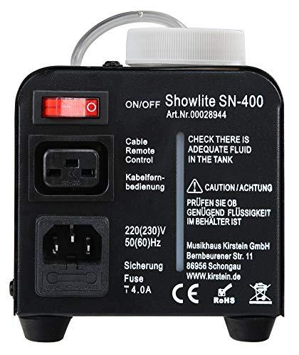 Showlite SN-400 Nebelmaschine mit blauen LEDs Erfahrungen & Preisvergleich
