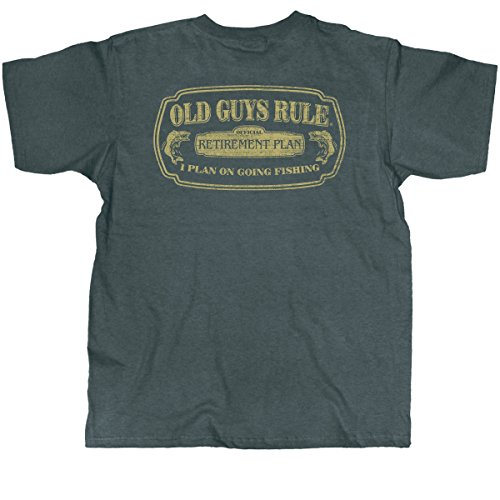 "OLD GUYS RULE ""Fishing in Retirement"" Dark Heather Men's T-Shirt..."