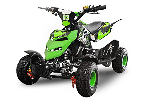 "Nitro Motors 49cc Kinderquad Repti 4"" Miniquad Mini Quad ATV Bike Kinder (Grün)"